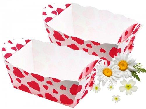 10 Minikuchenformen Mit Herzmotiv Aus Stabilen Backkarton Lebensmittecht